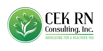 logo of CEK RN Consulting, a company that rents conference rooms from the Anderson Group.